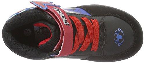 Spiderman Boys Kids Skate/street High Sneakers - Zapatillas Niños Negro - Schwarz (Bk/Bk/Cb/B/R 631)