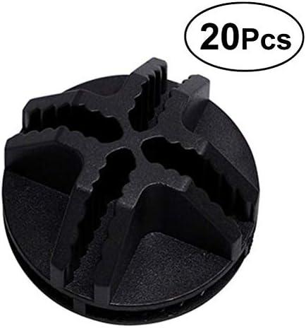 VOSAREA 20 Stücke Draht Würfel Kunststoff-Anschlüsse für modulare Veranstalter Schrank und Drahtgitter Cube Speicher (schwarz)
