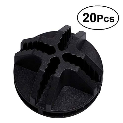 Vosarea 20Pcs Conectores de plástico de Cubo de Alambre para el Armario del Organizador Modular y Almacenamiento de Cubo de...