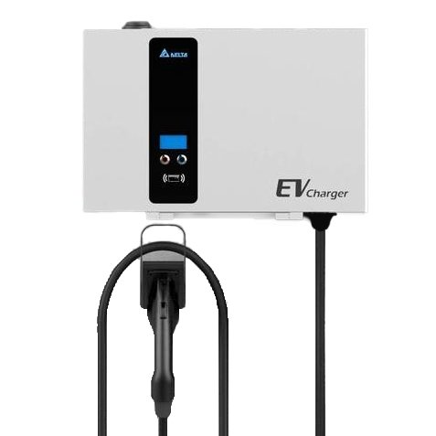 Delta EV Wallbox DC Fast Charger 25kW Commercial Charging Station - Single CCS Connector