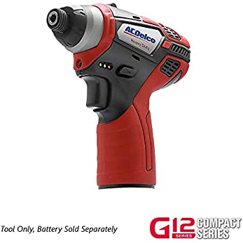 ACDelco ARI1265 Li-ion 12V Impact Driver (1265 in-lbs), 2 battery ...