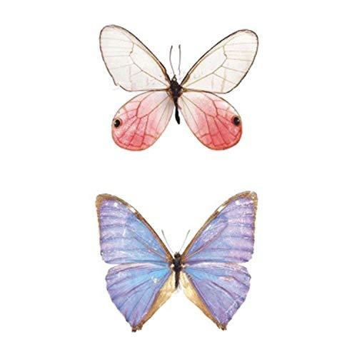 (Watercolor Butterfly Temporary Tattoo Sticker Waterproof Women Fake Tattoos Men Children Body Art 9.8 x 6)