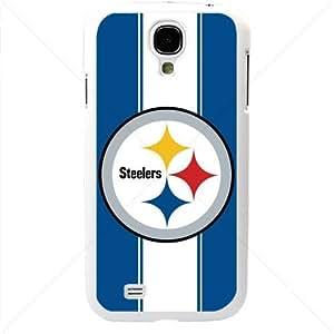 NFL American football Pittsburgh Steelers Samsung Galaxy S4 SIV I9500 TPU Soft Black or White case (White) wangjiang maoyi