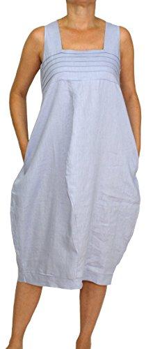 Mesdames sans Perano Dames Ballon Femmes Clair 24098 en L de Longue XXL Lin Morceau Manches Robe Bleu M XL 88wr5E