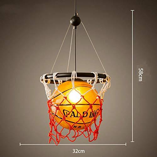 FidgetGear Basketball Pendant Light Glass Ceiling Lamp Retro Suspension Chandelier Fixture by FidgetGear (Image #2)