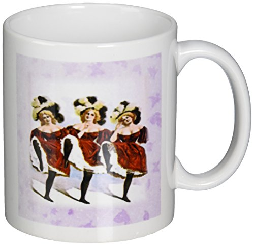3dRose mug_183501_1 Print of Vintage Can Can Dancers in Costume, Ceramic Mug, -