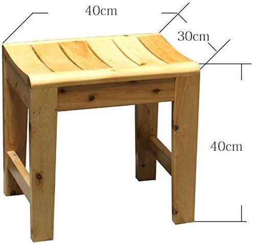 GUO Haushalt Rutschfester Duschhocker Bad/Bad Hocker aus Holz Duschsitz Hocker Holz ändern Schuhe Hocker for Ältere/Behinderte Anti-Rutsch-Heavy Duty Dusche Sitzhocker Dusche/Duschhocker Dusche Krea
