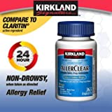 Kirkland Signature Non Drowsy Allerclear Loratadine Tablets, Antihistamine, 10mg, Pack of 3 (1095 Count Total )