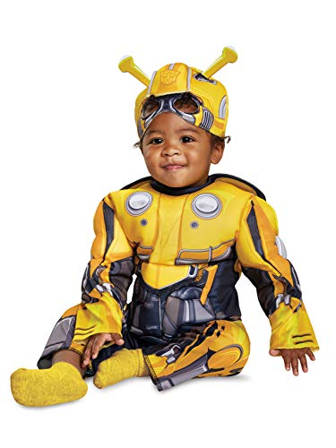 Disguise Bumblebee Infant Muscle Child Costume, Yellow, (12-18 -