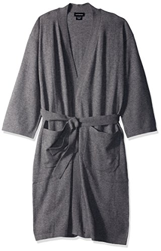 Cashmere Womens Robe - a & R Cashmere BW106HG Cashmere & Wool Robe, One Size, Heather Grey