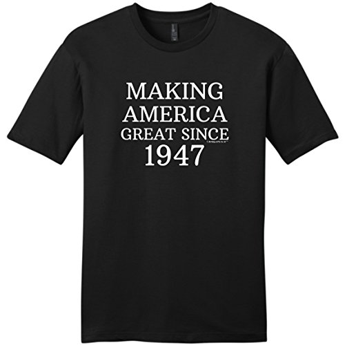 70th Birthday Party Supplies 70th Birthday Gifts For All Making America Great Since 1947 Young Mens T-Shirt Large Black