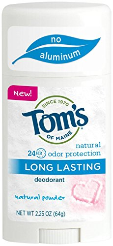 Tom's of Maine Natural Deodorant Stick, Aluminum Free, Long Lasting, Natural Powder, 2.25 Ounce (Natural Tom Deodorant)