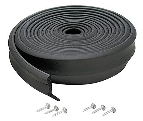 M-D Building Products 3749 Garage Door Bottom Rubber, 16 Feet, Black (Exterior Doors With Side Lights)