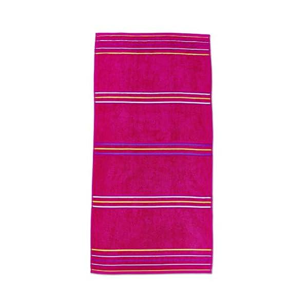Catherine Lansfield Arcobaleno Coppia Asciugamani Spiaggia–Rosa 2 spesavip