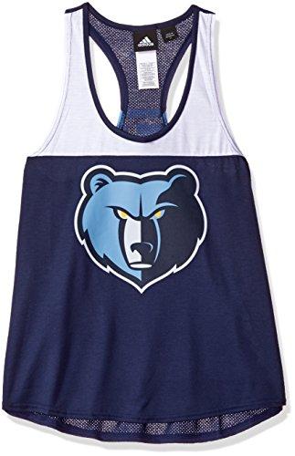 (NBA Memphis Grizzlies Women's Color Block Tank Top, Large, Navy)