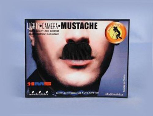[HMS Adult Charlie Chaplin Synthetic Hair Moustache, Black] (Costumes With Moustaches)