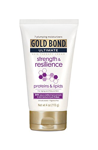 Gold Bond Ultimate Cream Strength and Resilience, 4 Ounce Body Lotion for Aging Skin, Helps Skin Look Smooth ()