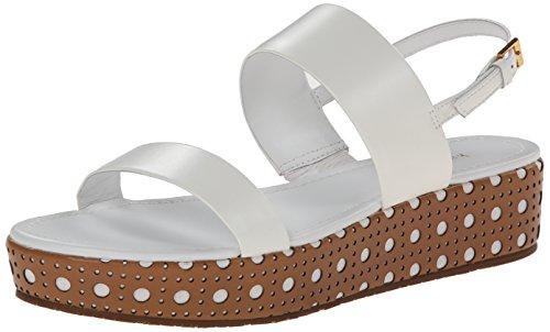 kate spade new york Women's Tasely Platform Sandal, White, 7 M US