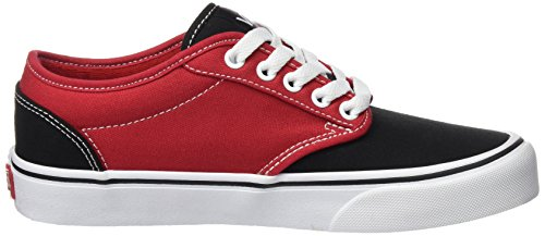 Vans Mens Atwood 2Tone Skateboarding Shoes Red/Black Sneakers DkgFO