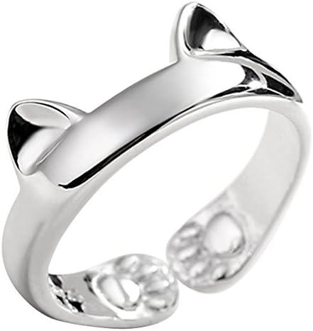 [スポンサー プロダクト]JEWME リング オープニング シルバー925 かわいい 猫の爪 耳 フリーサイズ 調整自由 友達 恋人へ