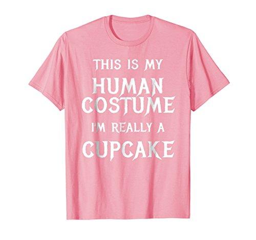 Mens Cupcake Halloween Costume Shirt Easy Funny Gift Idea 2XL Pink
