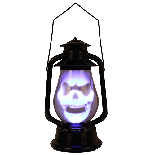 Liberty Imports Halloween Party Light Up Sound Activated Skull Prop Indoor Outdoor Decoration (Lantern)]()