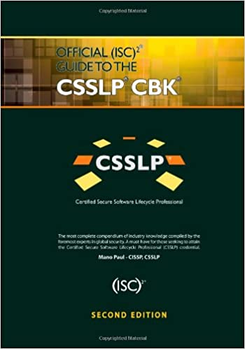 Amazon Fr Official Isc 2 Guide To The Csslp Cbk Mano Paul Livres