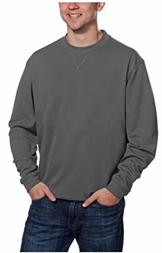 Pebble Beach Mens Performance Golf Pullover Shirt (Medium, Grey)