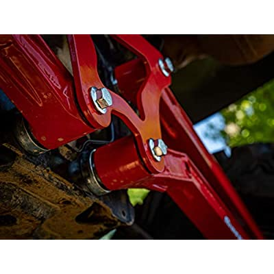 SuperATV High Clearance Boxed Rear Radius Arms/Rods for Polaris RZR XP 900 / XP 4 900 (2011-2014) - Red: Automotive