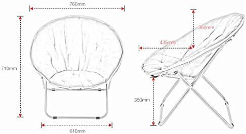 NYDZDM Chaise Longue Paresseux Chaise Pliante Chaise Ronde Chaise de Loisirs Fauteuil inclinable