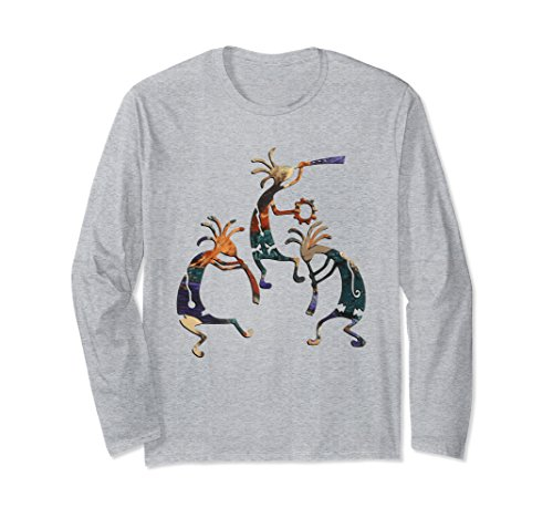 Kokopelli Adult T-shirt - Unisex KOKOPELLI MUSICAN TRIO T-Shirt XL: Heather Grey