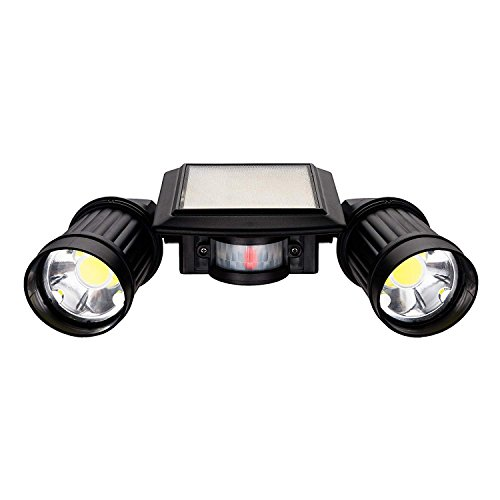 Sunwind Solar Spotlight Motion Sensor Outdoor Solar Powered Adjustable Dual Head Security Light Waterproof Solar Wall Lights for Porch, Garage, Yard, Driveway, Garden -