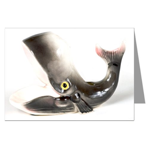 Vintage Kitsch Whale Ceramic Collectibles Notecard Set