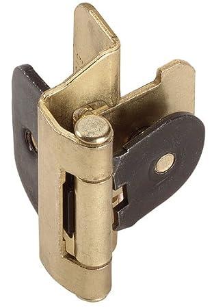 Amerock BP87013 Double Demountable Hinge, Polished Brass, 1/4 Inch Overlay