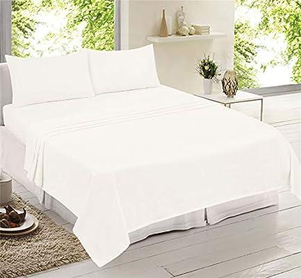 Juego de sábanas de franela de algodón cepillado, sábana bajera ...