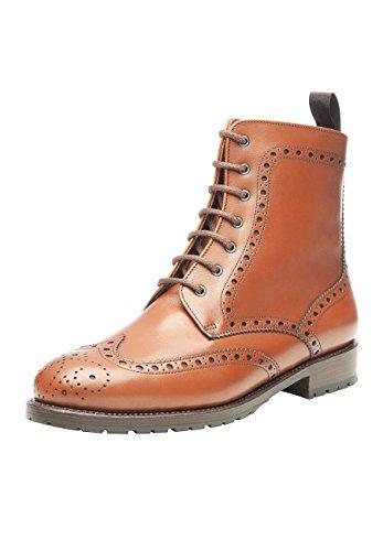 Shoepassion No. 276 Scarpa Invernale Di Alta Qualità Per Donna. Stivali Di Pelle Piena Con Fodera Di Pelle Di Agnello E Suola In Gomma Antiscivolo. Marrone