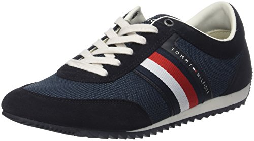 Sneakers Bleu Tommy Basses Gris 40 Homme 403 Midnight Runner Material Corporate EU Mix Hilfiger XqPXB1