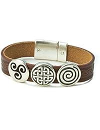 Irish Leather Bracelet Celtic Charms Made in Ireland