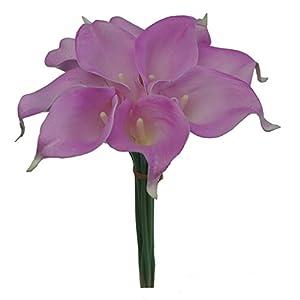 "Lily Garden Mini 15"" Artificial Calla Lily 20 Stem Flower Bouquets (Purple) 85"
