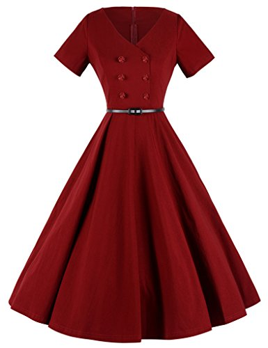 GownTown-Womens-Classy-Vintage-Audrey-Hepburn-Style-1940s-Rockabilly-Evening-Dress