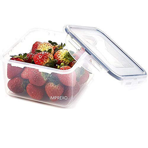Imprexo Airtight Plastic Dry Fruits Grocery Food Storage Containers and Jars, 1500ML  1, 1500 ML