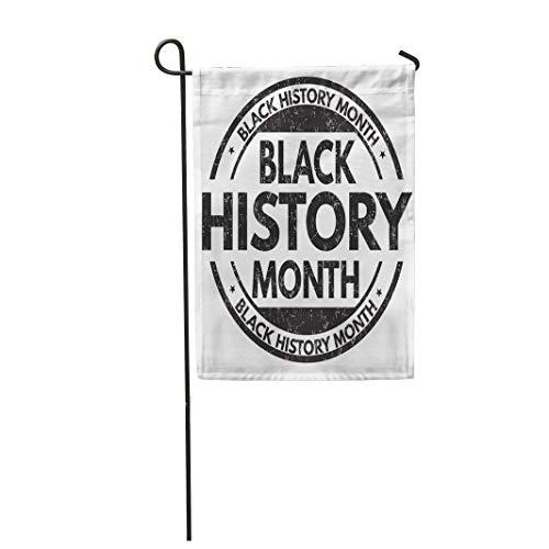 Semtomn Garden Flag Celebration Black History Month Rubber Stamp on African American 12