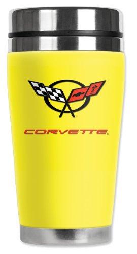 Art Plates Mugzie Corvette C5 Logo Travel Mug with Insula...