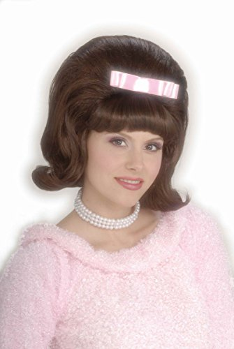 Forum Novelties Women's Flirting with The 50's Bouffant Costume Wig, Brown, One Size (50's And 60's Halloween Costumes)