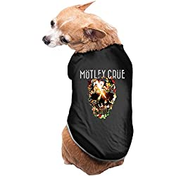 CoCe Dog's Motley Crue World Tour Vince Neil John Corabi Dog Clothes Fleece S Black