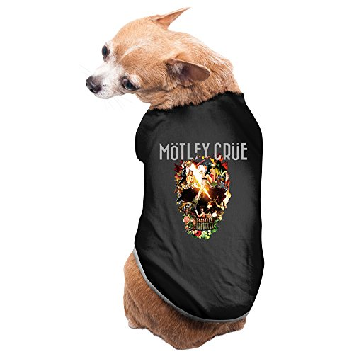 CoCe Dog's Motley Crue World Tour Vince Neil John Corabi Dog Clothes Fleece S Black