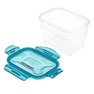 Amazon Brand – Solimo Plastic Food Storage Container Set, (3 pieces, 600ml)