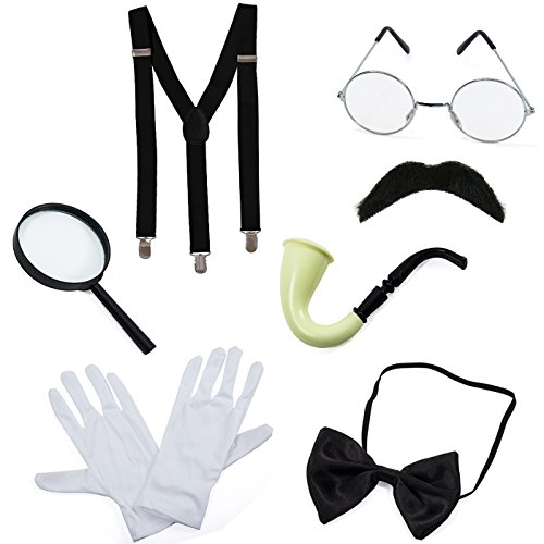 Spy Outfit For Kids (Detective Costume - 7 Pc Costume Accessories, Spy Costume, Spy Kit - Secret Agent Costume by)