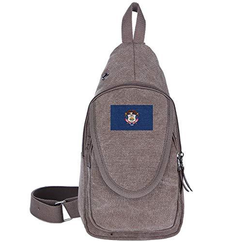 Utah State Map Element Design Unique Canvas Crossbody Mini Travel Sling Bags Backpack for Women & Men