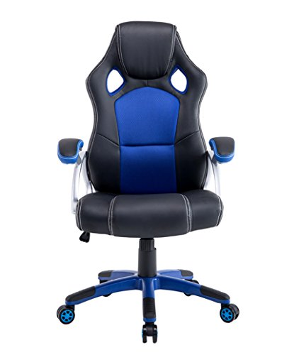 Baymate Executive Racing Office Chair PU Leather Race High Back Swivel Seat Computer Desk Chair